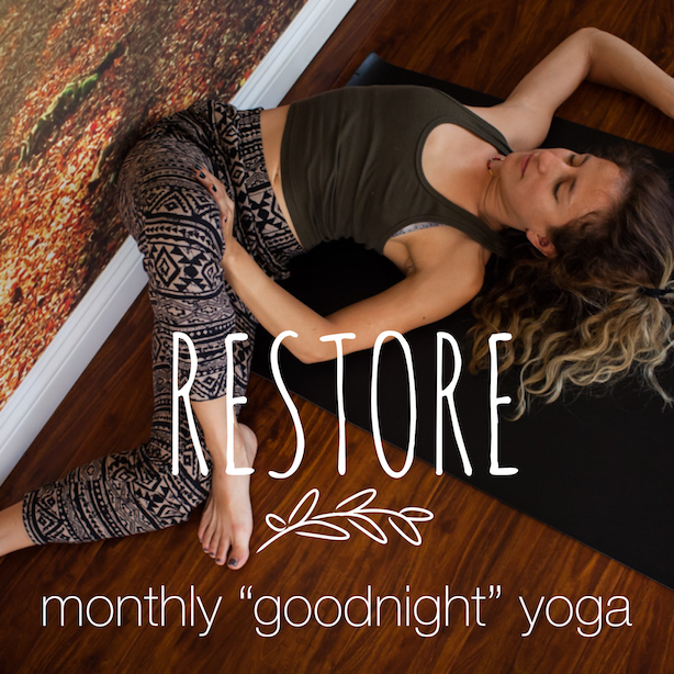 "Monthly ""Goodnight"" Yoga at The Yoga Harbor"